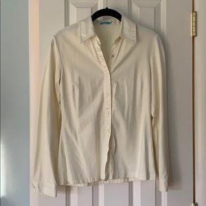 J. McLaughlin off-white Betty shirt
